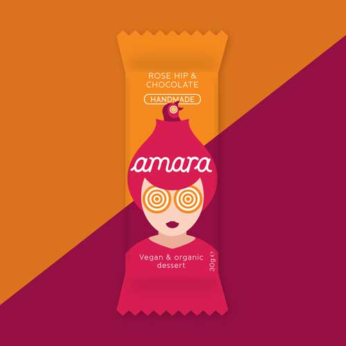 Amara с Шипка & Шоколад /черен веган/ - български суров био бар от ново поколение