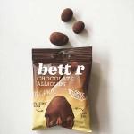 Бадеми в черен шоколад /подсладени с кокосов сироп/ БИО bett'r