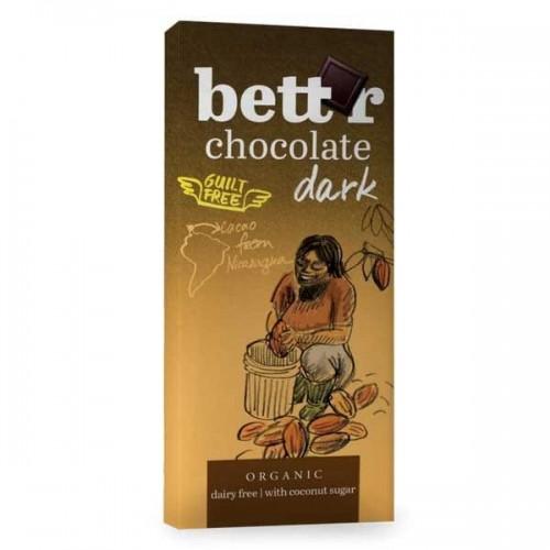 Фин черен шоколад със 70% какао от Никарагуа с кокосова захар /веган, био/ bett'r