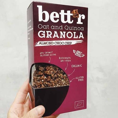 Гранола с бадеми и шоколадови парченца /БИО, без глутен/ Bett'r, 300 гр.