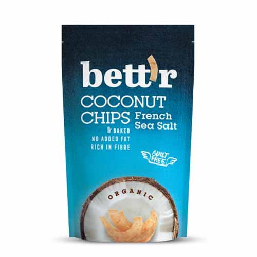 Кокосов чипс с френска морска сол БИО, bett'r