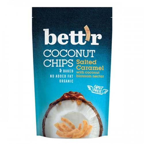 Кокосов чипс със солен карамел /био, печен, веган/ bett'r, 40 г