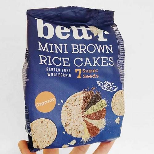Мини оризовки от кафяв пълнозърнест ориз със 7 супер семена 'bett'r', 50 г