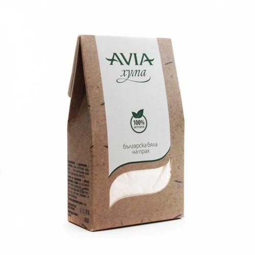Бяла хума на прах /много фина/ за всеки тип кожа AVIA, 250g