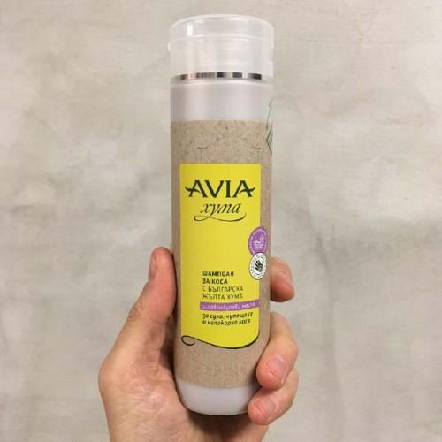 Шампоан с жълта хума за суха коса с лавандулово масло 'AVIA', 250мл