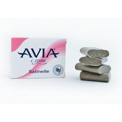 Сапун с българска Хума, ръчно изработен AVIA 'Satinelle', 100g /4х25g/