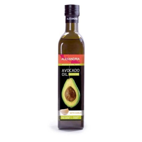 Авокадово масло с Чесново масло за готвене /кулинарно/ 'Alexandria', 500ml