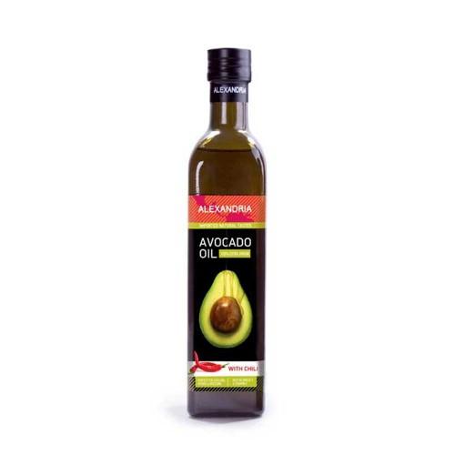 Авокадово масло с чили за готвене /кулинарно/, подходящо при пържене 'Alexandria', 250ml