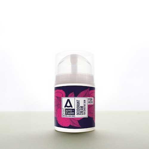 Крем-дезодорант с Пъпеш, Ванилия и Авокадо срещу неприятната миризма от изпотяване /за нея/, A for Avocado
