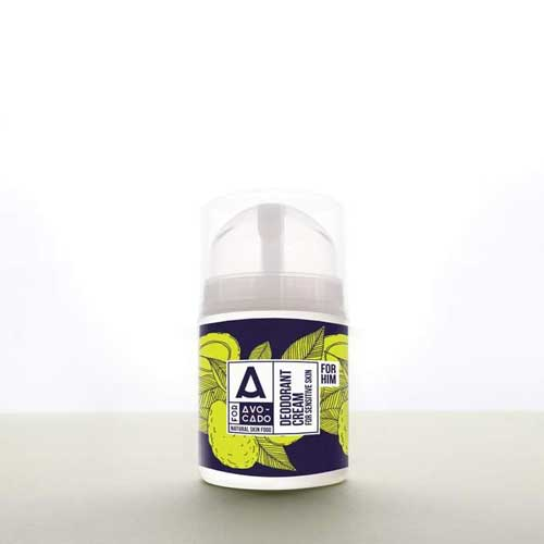 Крем-дезодорант с Кафе, Хвойна, Ветивер и масло от Авокадо срещу неприятната миризма от изпотяване /за него/, A for Avocado