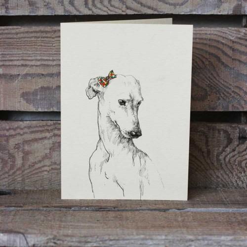 Картичка с авторска илюстрация на куче, Анелия Пашова