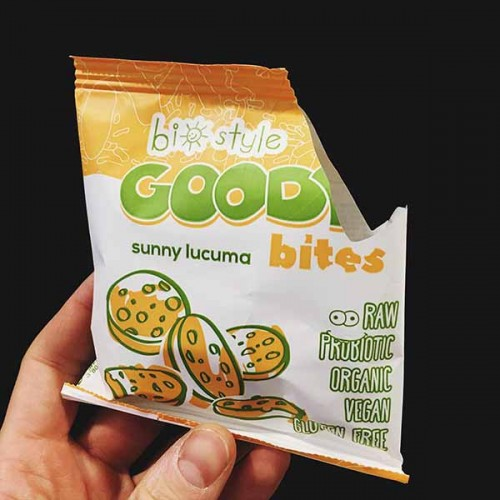 Сурови хапки със слънчева Лукума, Чиа и Пробиотик /без глутен, веган, БИО/, 'BioStyle'