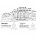 Разходка в София - книжка за оцветяване, рисуване, любопитни факти /+ голяма цветна карта/