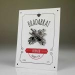 Значка-пин 'HORNED', ръчно изработена 'BRADABRAT'