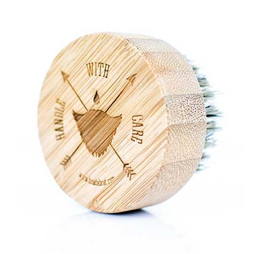 Четка за брада BRADABRAT /разплита космите и улеснява сресването/ в метална кутийка с капак