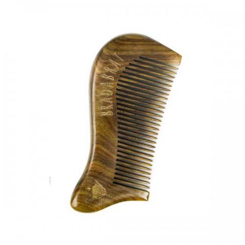 Дървен джобен гребен за брада, изработен от сандалово дърво 'BRADABRAT'