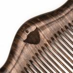 Дървен джобен гребен за брада и коса LUXURY, изработен от сандалово дърво 'BRADABRAT'