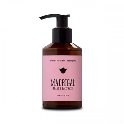 Почистващ гел за брада MADRIGAL с етерични масла от розов грейпфрут и лавандула 'BRADABRAT'