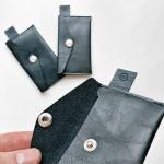 Портмоне от еко кожа с копче 10 х 6 см 'DEKORA'
