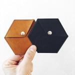 Шестоъгълно портмоне с копче /хексагон/ от еко кожа 'DEKORA'