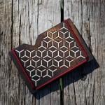 Дървен портфейл /обгорен/ за банкноти, карти и документи с ластици, изработен ръчно 'ДРЪВкулки'