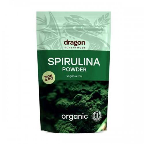 Спирулина на прах /БИО, изсушена/, източник на Желязо и Витамин В12 'Dragon Superfoods', 100 гр.