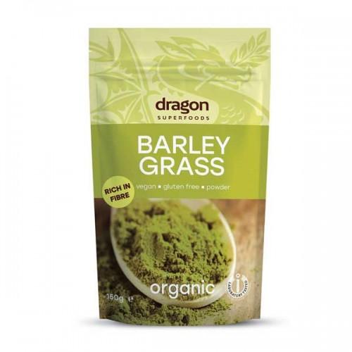 Ечемични стръкове на прах БИО 'Dragon Superfoods' - източник на хлорофил и всички незаменими аминокиселини, 150 гр.