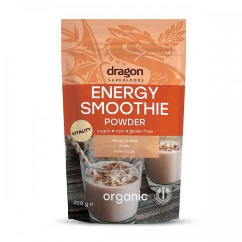 Енергиен микс /суров, БИО, на прах/ от конопен протеин, какао и корен от мака, Dragon Superfoods, 200 гр.