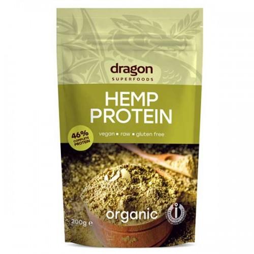Конопен протеин на прах /био, суров/ 'Dragon Superfoods', 200 г