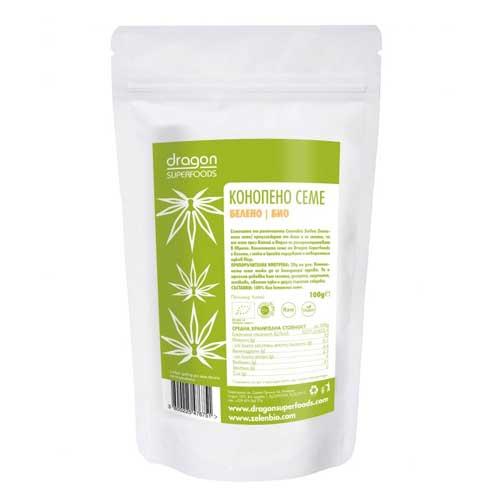 Конопено семе /белени/ БИО - важен източник на протеин и баланс на Омега-3 към Омега-6, 200 гр.