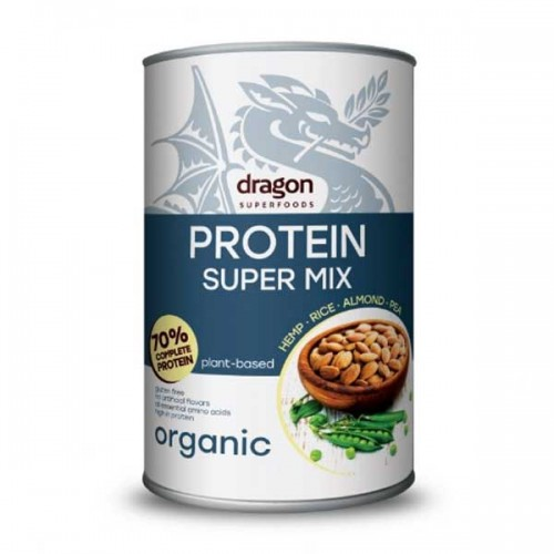 Протеинов микс /веган, без захар, био/ от Бадем, Коноп, Грах и Ориз 'Dragon Superfoods', 500 г