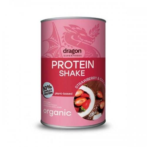 Протеинов шейк с Ягоди и Кокос /веган, подсладен с еритритол, био/ 'Dragon Superfoods', 450 г