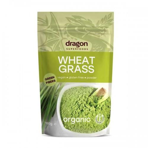 Пшенични стръкове на прах /пшенична трева, БИО/ за детоксикация на организма и повишаване на алкалността 'Dragon Superfoods', 150 г