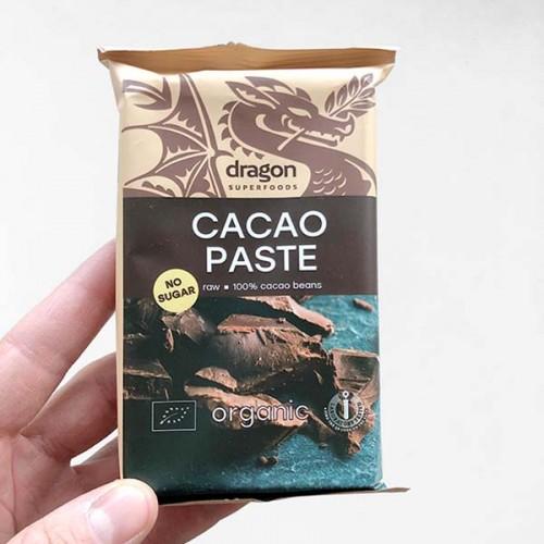 Какаова паста /СУРОВА, 100% чиста, без захар, БИО/ 'Dragon Superfoods', 180 г