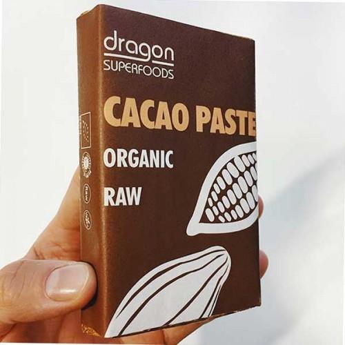 Какаова паста /СУРОВА, 100% чиста, без захар, био/ 'Dragon Superfoods', 180г