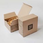 Дървена папийонка модел 'Горчица' с кариран възел, изцяло ръчна изработка, ДървАрт