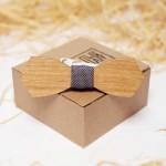 Дървена папийонка модел 'Бенедикт' изцяло ръчна изработка, ДървАрт