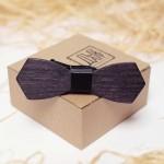 Дървена папийонка модел 'Бонд', изцяло ръчна изработка, ДървАрт