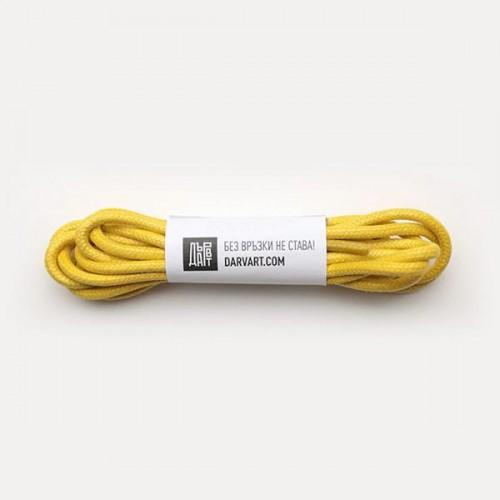 Връзки за обувки /жълти/ - комплект от 2 броя от 100% памук 'ДървАрт'