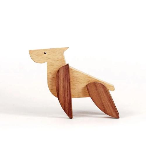 Магнитна играчка - Куче, изработена изцяло на ръка от масивна дървесина 'ESNAF' by Archabits