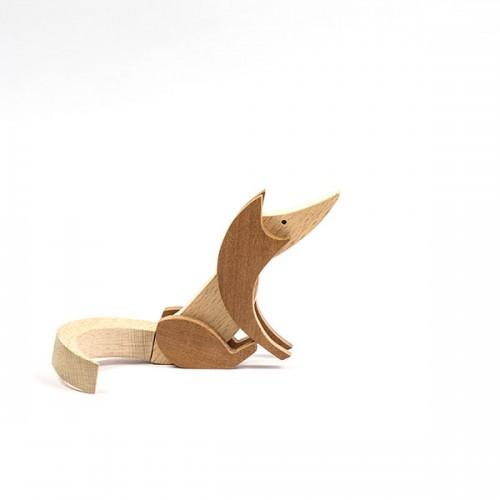 Магнитна играчка - Лисица, изработена изцяло на ръка от масивна дървесина 'ESNAF' by Archabits
