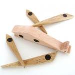 Магнитна дървена играчка-пъзел ЖИРАФ, изработена изцяло на ръка от масив /14 см височина/ 'ESNAF' by Archabits