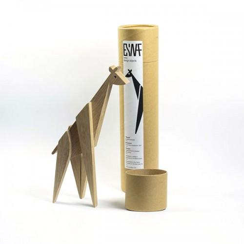 Магнитна играчка - Жираф, изработена изцяло на ръка от масивна дървесина /35см височина/ 'ESNAF' by Archabits