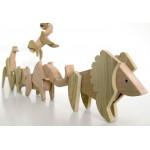 Магнитна играчка - Лъв, изработена изцяло на ръка от масивна дървесина 'ESNAF' by Archabits