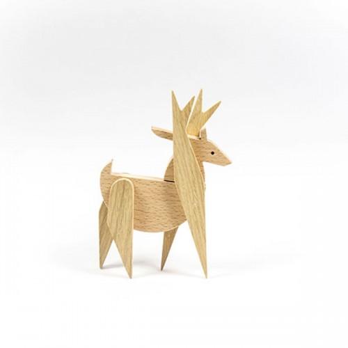 Магнитна играчка - Елен, изработена изцяло на ръка от масивна дървесина 'ESNAF' by Archabits