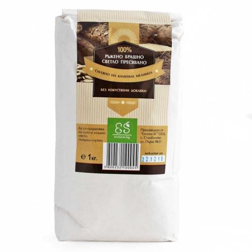 Ръжено брашно /светло пресявано/, смляно на каменна мелница 'Ecosem', 1kg