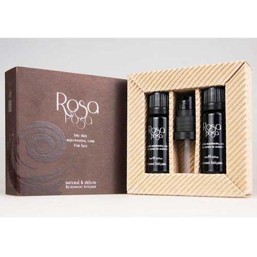 Маслообразен флуид за лице с CO2 екстракт от РОЗА /антиейдж грижа/ Natural & Deluxe 'Ecomaat', 2х10ml