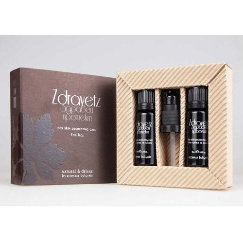 Маслообразен флуид за лице с CO2 екстракт от ЗДРАВЕЦ /защитна грижа/ Natural & Deluxe 'Ecomaat', 2х10ml
