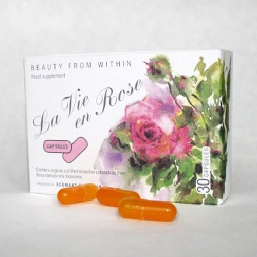 Капсули 'Живот с Рози' с CO2 екстракт и етерично масло от Роза Дамасцена и плодове на Шипка, 30 броя