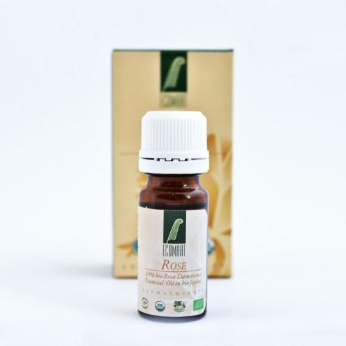 Био етерично масло от българска Роза Дамасцена 10% в масло от Жожоба 'Ecomaat', 10ml